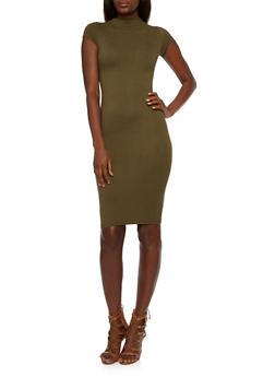 Brushed Knit Midi Dress - 3410068518726