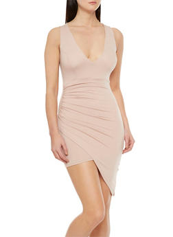 Asymmetrical Dress with Padded Top - 3410069392441