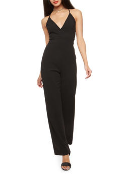 Lace Zip Back Jumpsuit - 3410069396826