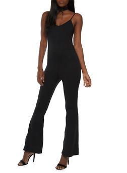 Solid Soft Knit Jumpsuit - 3410072241428