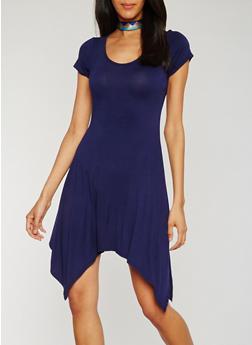 Sharkbite T Shirt Dress with Choker - 3410072249829