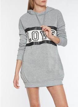 Love Graphic Sweatshirt Dress - 3410072292101