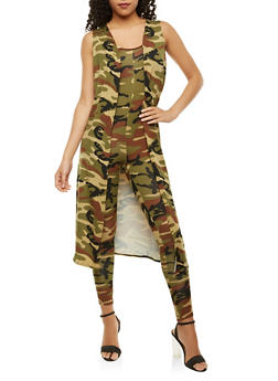 Camo Duster and Catsuit Set - 3413072240143
