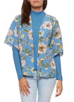 Floral Printed Kimono - 3414061351253