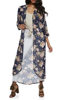 Long Floral Kimono - 3414061354261