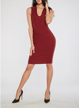 Soft Knit Bodycon Dress - 3414068510415