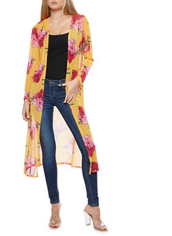 Floral Mesh Duster - 3414072246523