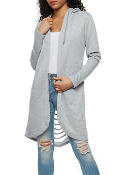 Hooded Slashed Back Duster - 3414072299604