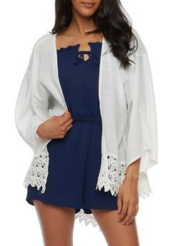 Kimono with Crochet Trim - 3414074156101