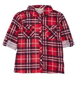 Toddler Girls Plaid Shirt - 3503061957611