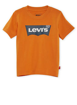 Toddler Boys Levis Tee with Textured Logo - 3504070340056