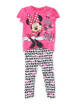 Toddler Girls Minnie Mouse T-Shirt and Leggings Set - 3505017727677
