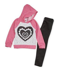 Toddler Girls Sweatshirt and Moto Leggings Set - 3505054731145