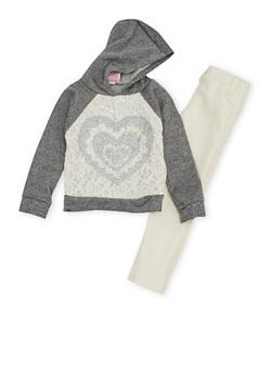 Toddler Girls Sweatshirt and Moto Leggings Set - 3505054731145