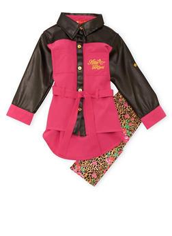 Toddler Girls Tunic Top and Leggings Set - 3505054733223