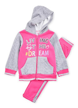 Toddler Girls Hoodie and Joggers Set - 3515054732276