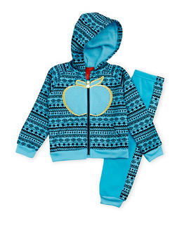 Toddler Girls Apple Bottom Two Piece Set with Aztec Print - 3515054733129