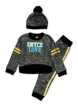 Toddler Girls Enyce Sweatshirt Set with Joggers and Hat - 3515054733203