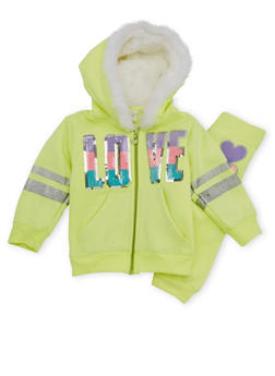 Toddler Girl Hoodie and Joggers Set - 3515060991016