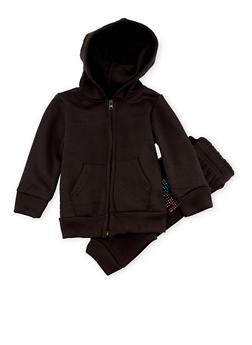 Toddler Girls Limited Too Hoodie and Joggers with Love Studs - 3515060992654