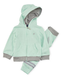 Toddler Girls Love Graphic Hoodie with Joggers Set - 3515060993671