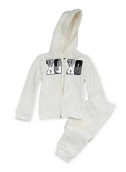 Toddler Girls Hoodie and Joggers Set - 3515061957504