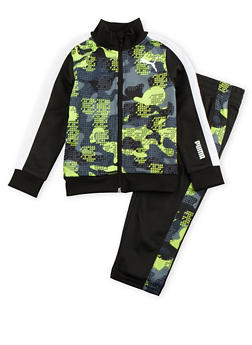 Toddler Boys Puma Tracksuit in Geo Print - 3516045805020