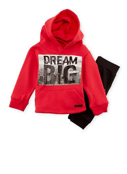 Toddler Boys Sean John Hoodie and Joggers with Dream Big Print - 3516072757133