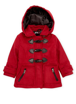 Toddler Girls Toggle Coat - 3519038340059
