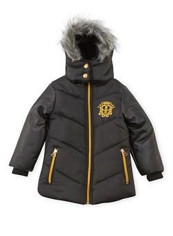 Toddler Girls Pelle Pelle Long Hooded Puffer Coat - 3519068325520