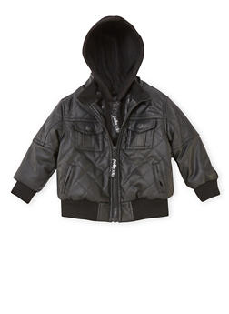 Toddler Boys Pelle Pelle Quilted Bomber Jacket - 3520068325540