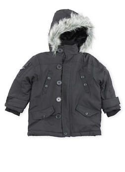 Toddler Boys Pelle Pelle Parka Jacket with Faux Fur Hood - 3520068325550
