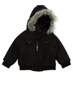Toddler Boys Pelle Pelle Parka with Fur Hood - 3520068325560