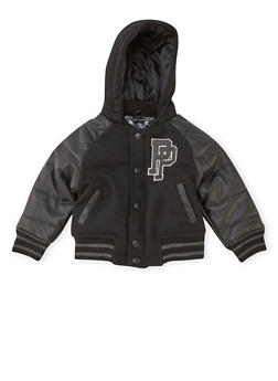 Toddler Boys Pelle Pelle Hooded Varsity Jacket - 3520068325590