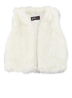 Toddler Girls Faux Fur Vest - 3521038340162