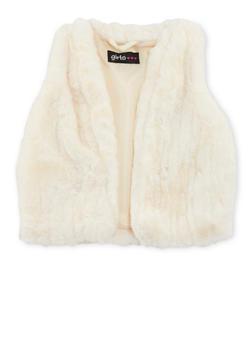 Toddler Girls Faux Mink Fur Vest - 3521038340163