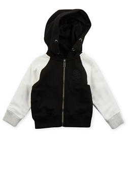 Toddler Boys Sean John Zip Up Hoodie with Contrast Sleeves - 3524072751047