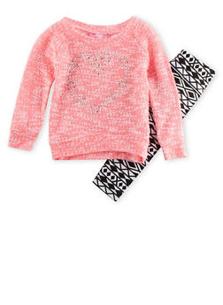 Baby Girls Studded Sweater and Leggings Set - 3540048375590