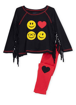 Baby Girl Limited Too Fringed Top and Leggings Set - 3540060990001
