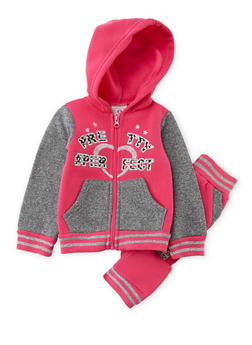 Baby Girl Hoodie and Joggers Set - 3541054732271