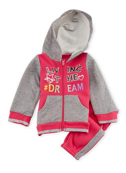 Baby Girl Hoodie and Joggers Set - 3541054732276