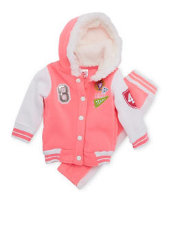 Baby Girl Varsity Hoodie and Joggers Set - 3541060991000