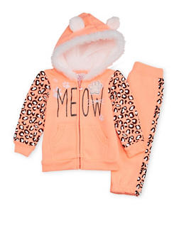 Baby Girl Graphic Hoodie and Joggers Set - 3541060991003