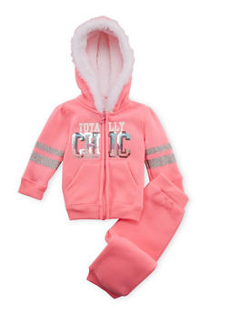 Baby Girl Hoodie and Joggers Set - 3541060991010