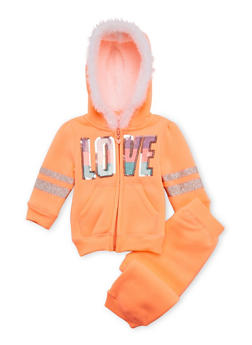 Baby Girl Hoodie and Joggers Set - 3541060991012