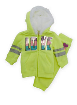 Baby Girl Hoodie and Joggers Set - 3541060991013
