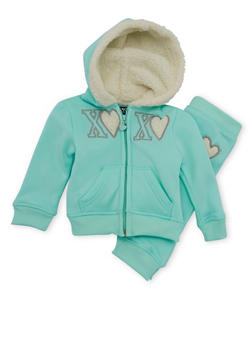 Baby Girl Hoodie and Joggers Set - 3541061957503