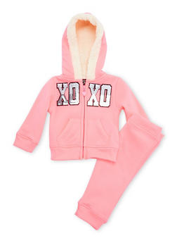 Baby Girl Hoodie and Joggers Set - 3541061957504