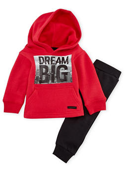 Baby Boy Sean John Sweatshirt and Joggers Set with Dream Print - 3551072757132