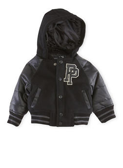 Baby Boy Pelle Pelle Hooded Varsity Jacket - 3554068325590